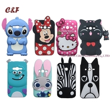 G313h Silicone Case for Samsung Galaxy V Plus V+ Cover Hello Kitty Cat Stitch Minnie Dog Zebra Judy Soft Phone Bags