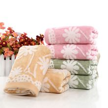 34*74cm High Quality Soft Cotton Face Flower Pattern Towel Bamboo Fiber Quick Dry Towels(China)
