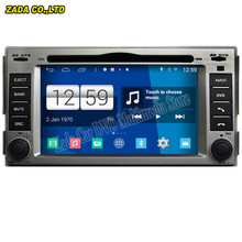 Newest Car Styling 800*480 Quad Core 16G 6.2''Pure Android 4.4.4 Stereo Radio Car DVD Player for Hyundai Santa fe GPS Navigation