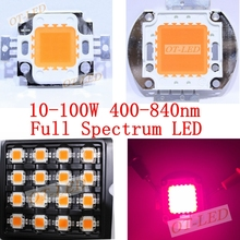 Wholesale 400nm-840nm Full Spectrum led grow chip, 10W 20W 30W 50W 100W 30mil 45mil led plant lights Light Excellent Quality(China)