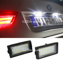 2x Error Free 24 LED License Plate Lights 3528 SMD For HID License Number Plate Light Lamp For BMW E38(China)