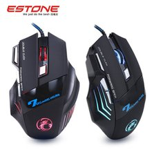 Professional Wired Gaming font b Mouse b font 7 Button 5500 DPI LED Optical USB Gamer
