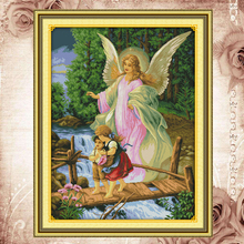 Joy Sunday Counted cross stitch kits Angel convoy(1)DMC14CT11CTcottonfabric restaurant hotel homedeco painting factory wholesale(China)