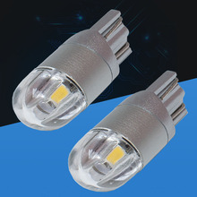 2pcs T10 192 W5W 2SMD 2 SMD 3030 LED Car marker light dome Lamps door lamp motor Parking Lights License Plate bulbs white DC 12V