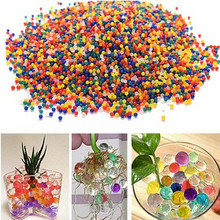 50g Crystal Soil Hydrogel Gel Polymer Water Beads Flower/Wedding/Decoration Maison Growing Water Balls Big Home Decor(China)
