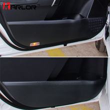 4Pcs/set Door Trim Carbon Fiber Protection Anti Kick Film Stickers Decals Car-styling Toyota Corolla 2014-16 Accessories - Karlor Speciality Store store