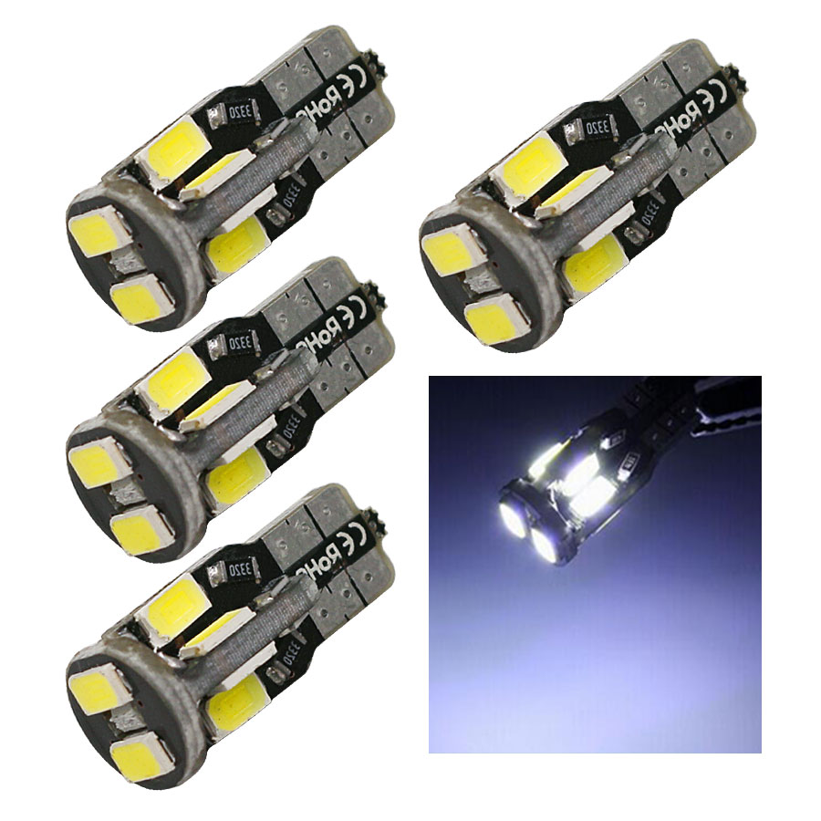 4PCS Canbus Lens no error T10 194 168 W5W 5730 10 LED SMD White Auto Car Side Wedge Interior Light Lamp Bulb DC12V Free Shipping<br><br>Aliexpress
