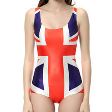 NEW 1146 Sexy Girl Summer Canada Brazil union jack UK flag 3D Prints One-piece sleeveless Swimsuit Swimwear women bathing suit