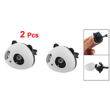5 X HTHL 2Pcs Black/White Panda Shaped Car Air Freshener Perfume w Two Clips New(China)