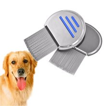 Gomaomi Pet Dog Lice Comb Round Stainless Steel Detangler Pet Combs for Dogs Cat Grooming Brush Tool Pet Products(China)