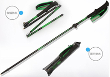 outdoor ultralight Ski Pole folding walking stick skiing rod one pcs per price selling(China)