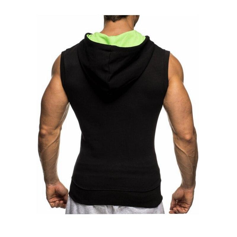 Male Bodybuilding Hoodies Fitness Clothes Hoody Cotton Hoodie Men Sweatshirts Men's Sleeveless Tank Tops Casual Vest 10