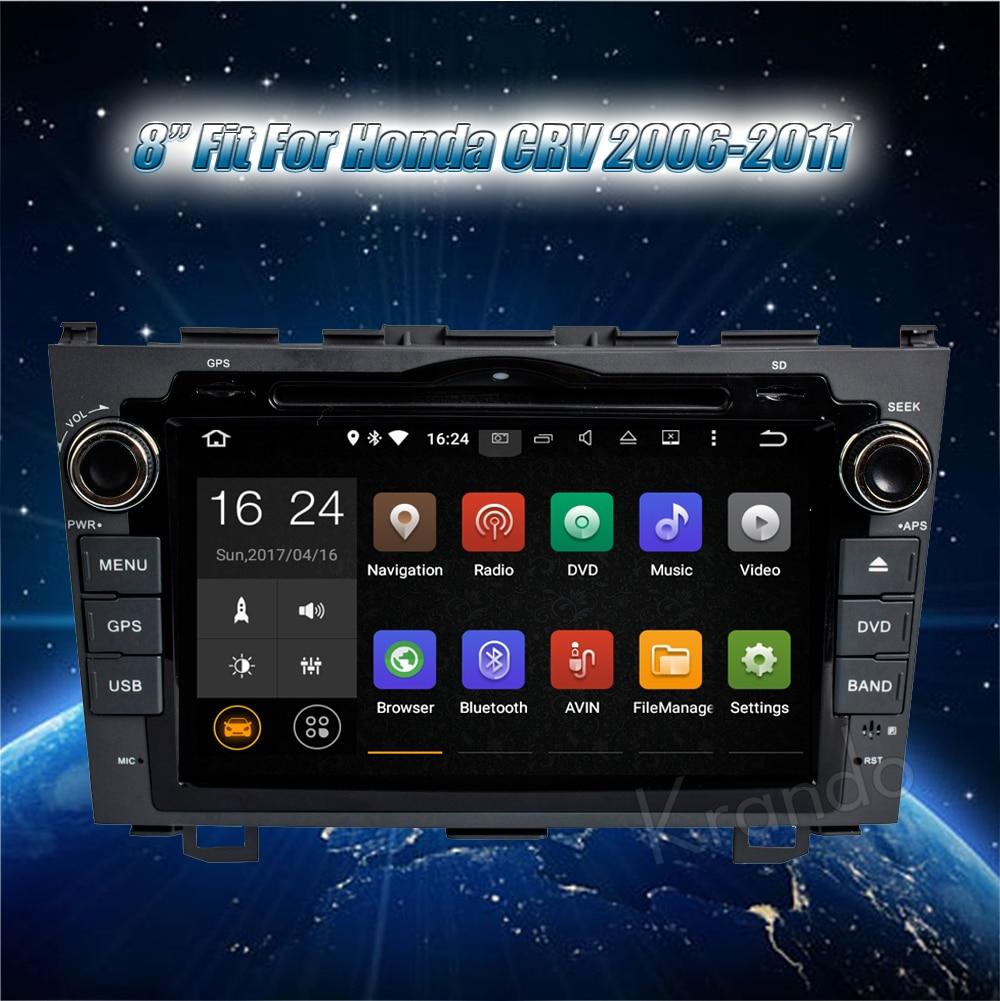 Krando honda CRV 2006-2011 android car radio gps navigation system multimedia player (2)
