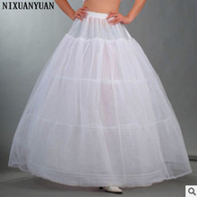 Wholesale 3 Hoop Petticoat Underskirt For Ball Gown Wedding Dress Underwear Crinoline(China)