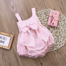 2017 High Quality 0-24M Summer Newborn Cute Striped Bubble yarn Pink Baby Dress girls party dresses baby girls dresses vestidos