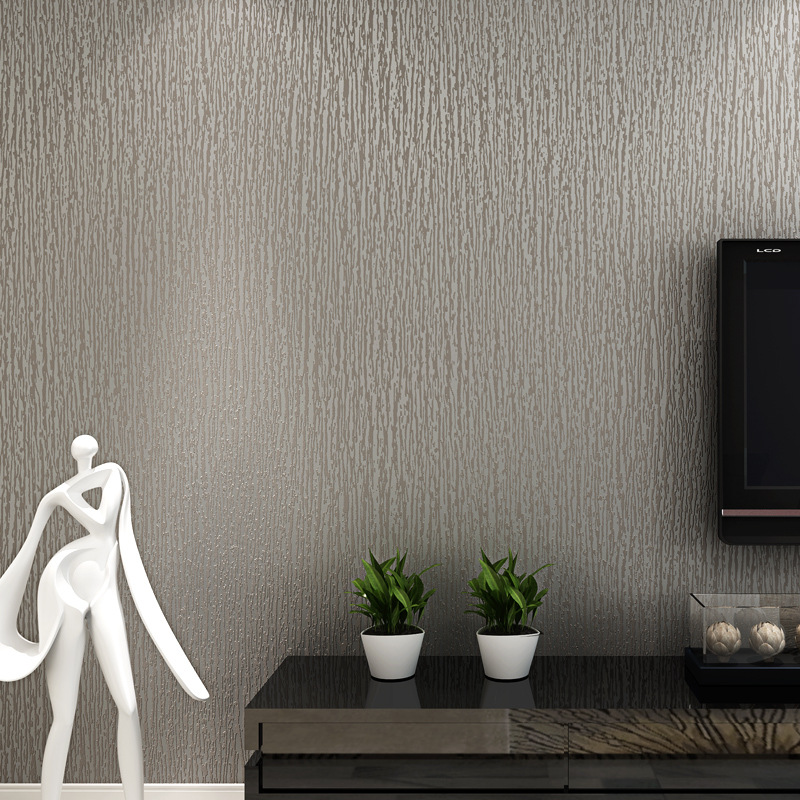 beibehang Silver gray non - woven works wallpaper pure color plain linen hotel corridor clothing store wallpaper<br>
