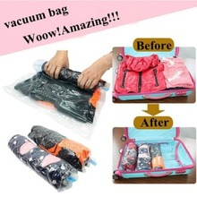 2Pieces/Lot Vacuum Compression Bags Traveling Pouch Clothes Holding Special Sealed Bag Clothes Storage Bag