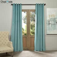 ChadMade Velvet Fabric Curtains for the Bedroom Elegant Window Curtains for Living Room Custom Made Blackout Blinds Drapes S2