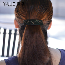 Women headwear double layers patchwork vintage hair clip for girls korean hair fascinator cute hair accessories for women(China)