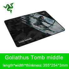 Razer Goliathus Series Middle Custom Game Mouse Pad 355*254*3mm Locking Edge Waterproof Pad for Gamer with Orignal Package(China)
