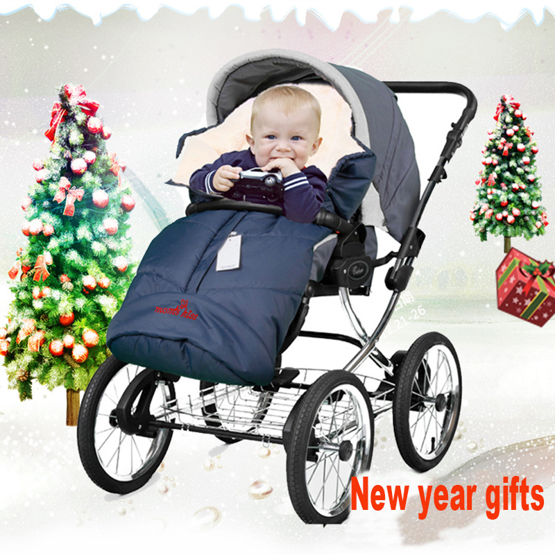 2 colors  baby thicken winter sleeping bag  anti-cold baby stroller sleeping bag  thickening envelope sleeping bag<br>