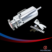 PQY RACING- New Aluminum Breather catch tank Overflow Tank Type for Track or Drift Car For Honda Toyota BMW Nissan PQY-TK03