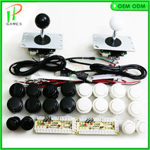 Arcade mame DIY kit for 2 players To USB to PC Zero Delay Encoder connect 4 way Joystick and Sanwa type Push Button(China)