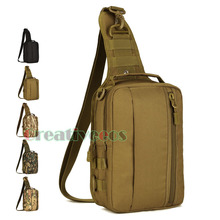 2017 New Men Waterproof 1000D Nylon Military  Travel Riding High Capacity Sling Shoulder Messenger Chest Ipad Bag