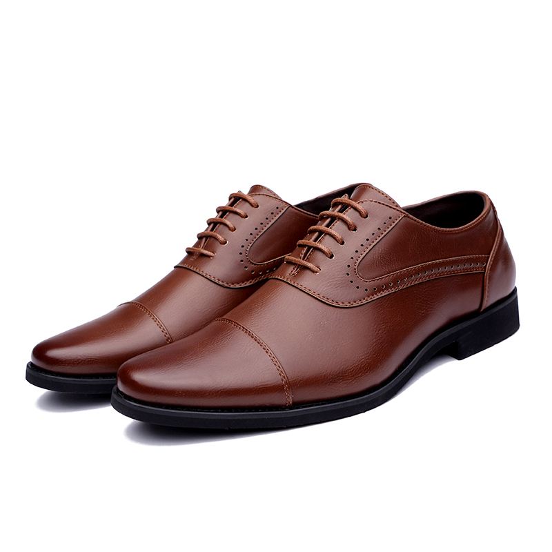 men spring working shoes luxury brand italian eurpean style pointed toe elegant male footwear dress working oxford shoes for men (5)