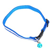 1.0cm/1.5cm Width Small Dogs Cat Collar Puppy Nylon Reflective Pet Dog Collar Necklace with Bell For Dog Supplies