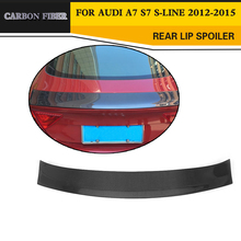 JC Style Carbon Fiber Rear wing lip Spoiler Auto Car Boot Lip for Audi A7 / S7 / S-Line 2012-2015(China)