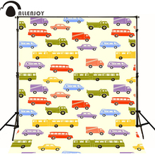 Allenjoy Photographic background Bus school bus van truck newborn photography photo for studio camera fotografica wood(China)