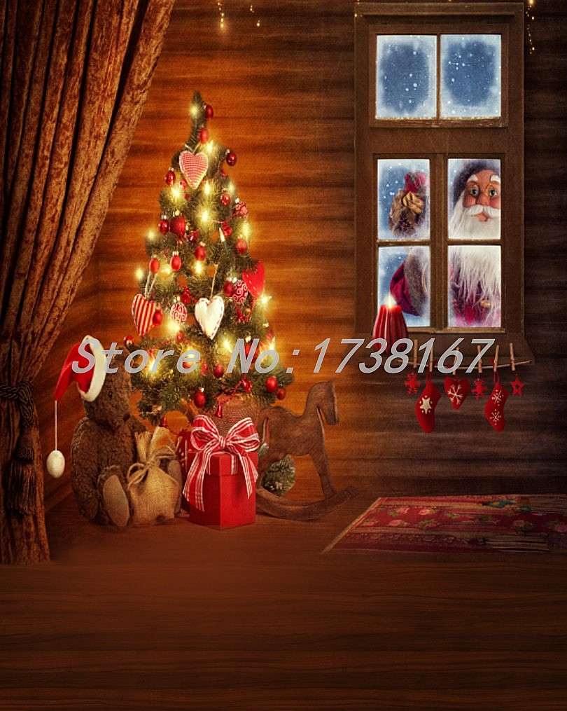 2015 New Newborn  Photography Background Christmas Vinyl  Backdrops 200cm *300cm Hot Sell Photo Studio Props Baby L861<br>