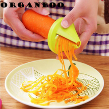 Kitchen Accessories Gadget Spiral Vegetable Slicer Funnel Grater Shred Device Carrot Julienne Cutter The Goods For Kitchen(China)