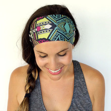Retail Sport Headband Turban  Bandage Band  Accessory Wide Cotton Hair Band Running Headband Hobo Printing Hairbands