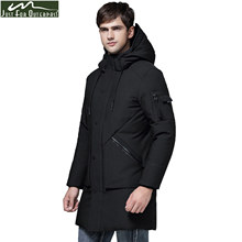 2017 New Fashion Autumn Winter Outwear Down Jacket Men Windproof Waterproof Duck Down Parka Male Long Plus Size Thick Warm Coat(China)