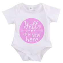 Newborn baby clothes Girl Child BodySuit a piece of single phrase Clothing Outfits Funny Words Playsuit