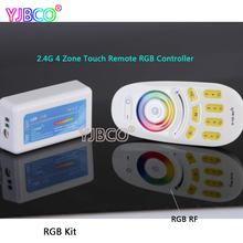2.4G 4 Zone Wireless Remote Dimmimg CT/RGB/RGBW LED Remote Controller RF Remote Dimmer for 5050 3528 LED Strip Light,DC12-24V(China)