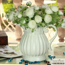 Fashion rustic orgnan white DIY vase, iron vase  artificial flower overall floral artificial flower