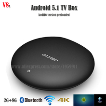 V8 Android tv Box Android 5.1 Built in Google Play Store OTA android tv box hight quality android smart tv set to box