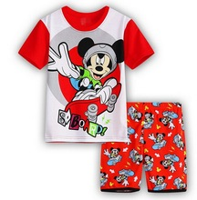 Retail Kids Pajamas Sets Kids Clothes Boys Girls Sleepwear Pajamas Mickey Minnie Girls Tshirt Shorts Children Pyjamas Tracksuit