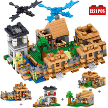 Qunlong 4 in 1 My World Compatible Legoed Minecrafted Building Blocks My Village Enlighten Bricks Toys Gift hobbies for children(China)