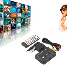1Pcs Free shipping 1080P HD SD/MMC TV Videos SD MMC RMVB MP3 Multi TV USB HDMI Media Player Box