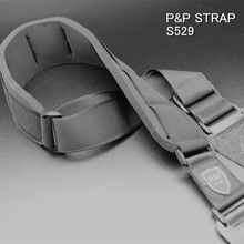Bass Guitar Belt Strap Genuine Leather Front + Flannel Backside + Nylong Lengthened Part S529