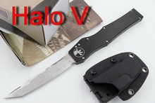 JUFULE Brand Made Marfione HALO IV V 4 5 D2 blade aluminum handle camping hunting survival EDC tool Fixed Blade kitchen knife