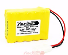 Ni-Cd Nickel Cadmium AA 12V 900mAh Rechargeable Battery for Model toys 10SX US(China)