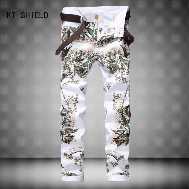 High Quality 3D Printed biker jeans Men Fashion Denim Mens Jeans Brand Elastic Skinny Jeans Casual denim overalls Men ClothingОдежда и ак�е��уары<br><br><br>Aliexpress