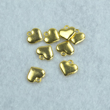 30pcs  Gold color Hearts Charms Necklace Pendant Bracelet Jewelry Making Handmade Crafts diy Supplies 11*12mm 1521