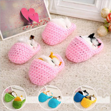 Random Color 10*6 Sounding Slipper Sleeping Kittens Cats Plush Toys Small Toy Kids Appease Doll Brinquedos Gift