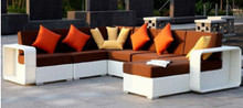 Hot Sale patio outdoor furniture white sofa sets modern modular sofa